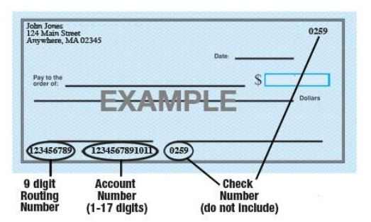 Sample image of check
