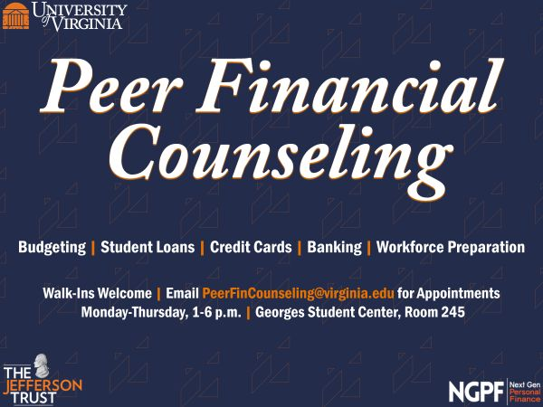 A logo for the Peer Financial Counseling program is displayed.